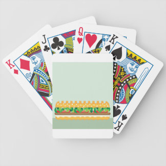 Long Sandwich vector Bicycle Playing Cards