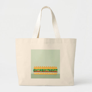 Long Sandwich vector Large Tote Bag