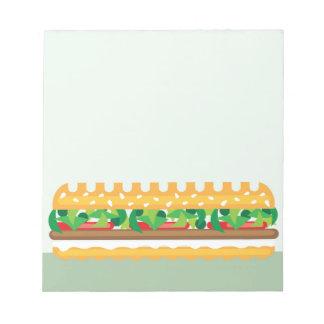 Long Sandwich vector Note Pad