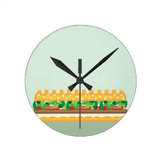 Long Sandwich vector Round Clock