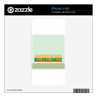 Long Sandwich vector Skin For The iPhone 4S