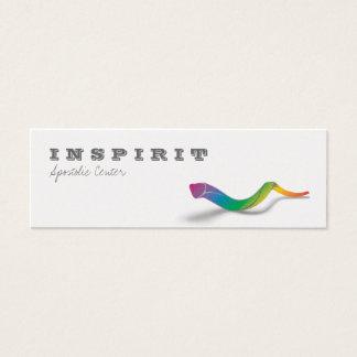 Long Shofar (rainbow) Mini Business Card