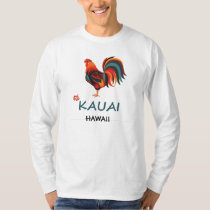 Long Sleeve Hawaiian T-shirt Kauai Wild Rooster