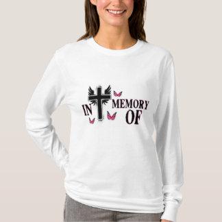 """Long Sleeve """"In Memory of"""" w/cross & butterflies T-Shirt"""