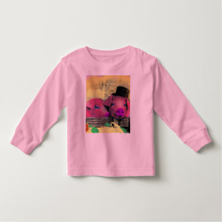 "LONG SLEEVE kid's t-shirt ""funny pigs"""