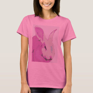 Long  Sleeve Ladies Rabbit Graphic T-Shirt