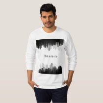 """Long sleeve  """"Life in the city""""  t-shirt"""