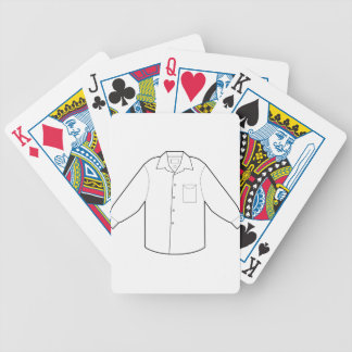 Long Sleeve Shirt Drawing Graphic Bicycle Playing Cards