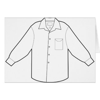 Long Sleeve Shirt Drawing Graphic Card