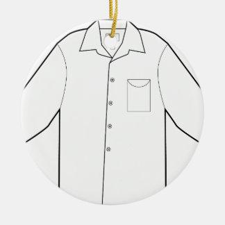 Long Sleeve Shirt Drawing Graphic Ceramic Ornament