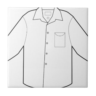 Long Sleeve Shirt Drawing Graphic Ceramic Tile