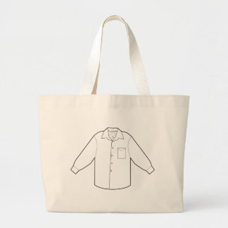 Long Sleeve Shirt Drawing Graphic Large Tote Bag