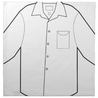 Long Sleeve Shirt Drawing Graphic Napkin