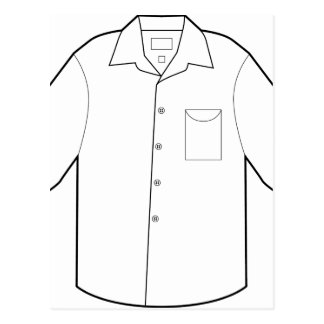 Long Sleeve Shirt Drawing Graphic Postcard