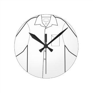 Long Sleeve Shirt Drawing Graphic Round Clock