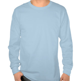 Long Sleeve Shirt Light Blue with slogans