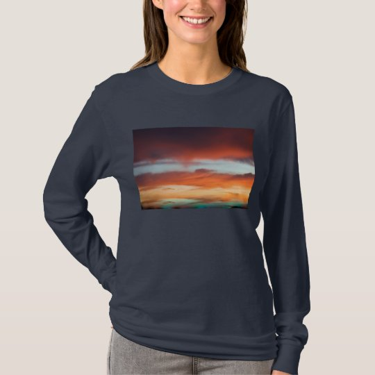 Long Sleeve Shirt with Beautiful Sunset