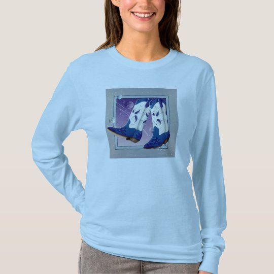 Long Sleeve T-shirt - Electric Slide Cowboy Boots
