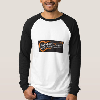 Long Sleeve T with Black Logo T-Shirt