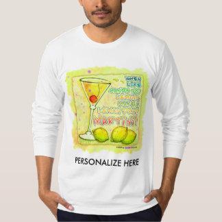 Long Sleeve Tees - Lemon Drop Martini
