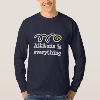 Long sleeve tennis shirt with motivational quote