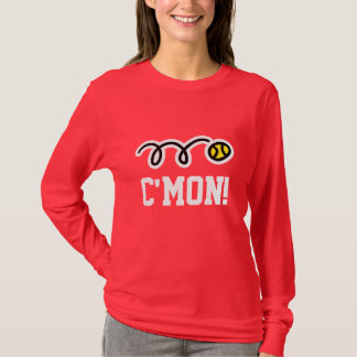 Long sleeve Tennis t-shirt for women in red