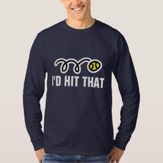 Long sleeve tennis t-shirt with funny quote