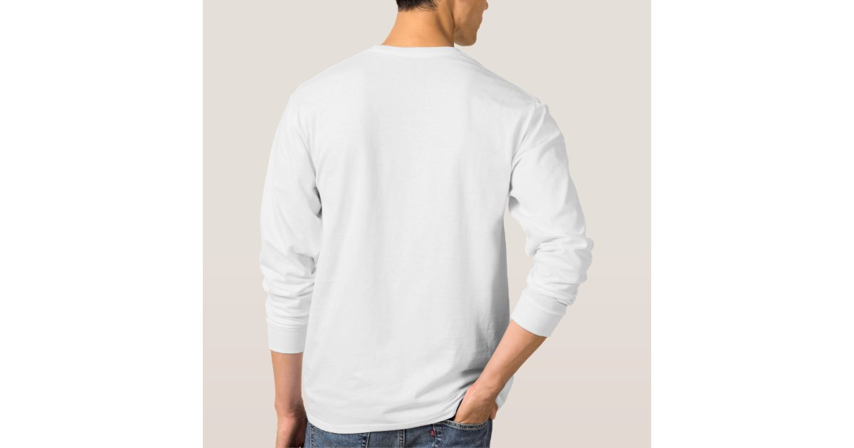 Long Sleeve Thick White T's T-Shirt | Zazzle