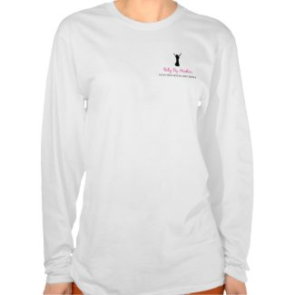 Long sleeve white Belly By Heather t-shirt