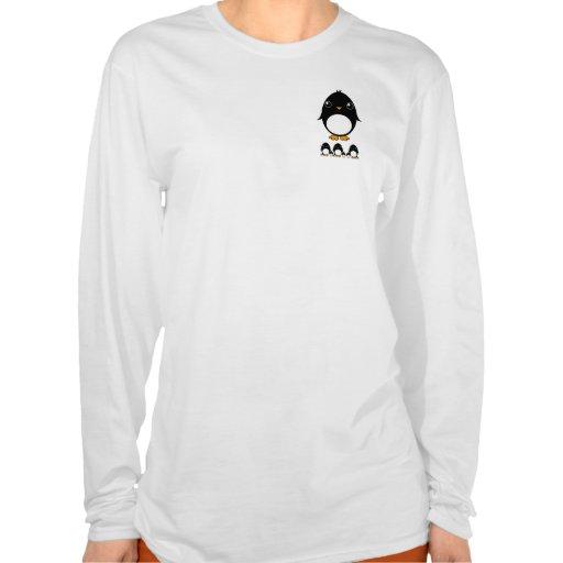 long sleeve women's t-shirt pinguin