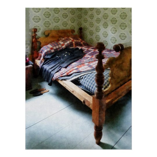Long Sleeved Dress on Bed Poster