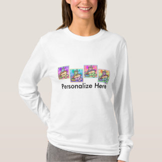 Long Sleeved T-shirt - Pop Art Hot Dog with Chips