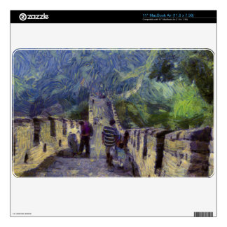 "Long slope of the Great Wall of China 11"" MacBook Air Skins"