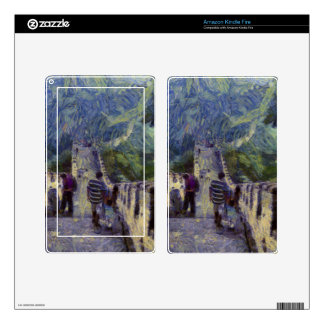 Long slope of the Great Wall of China Decals For Kindle Fire