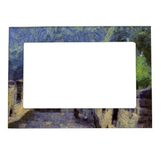 Long slope of the Great Wall of China Picture Frame Magnets