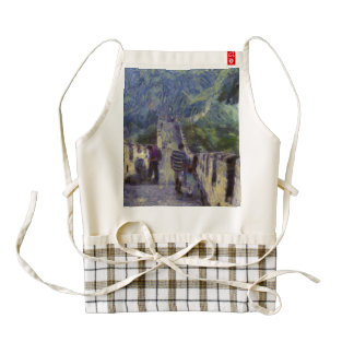 Long slope of the Great Wall of China Zazzle HEART Apron