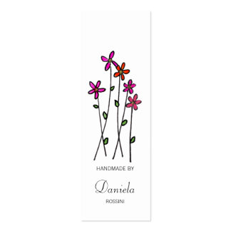 Long Stem Flowers, Kitchen / Craft Labels Mini Business Card