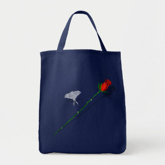 Long Stem Rose and Butterfly  Bag