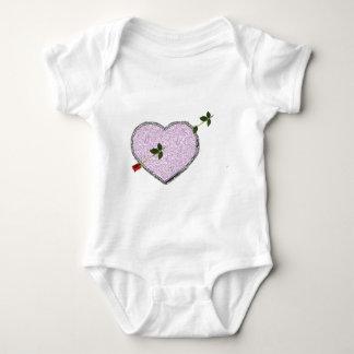 long stem rose arrow valentine's day gift idea baby bodysuit