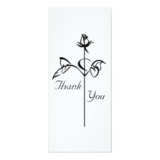 Long Stem Rose Thank You Card