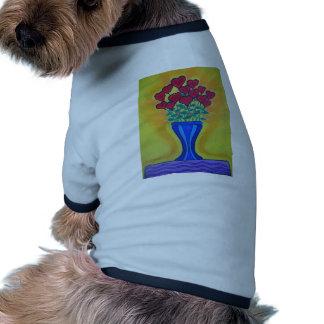 Long-stemmed Hearts in Blue Vase Pet T Shirt