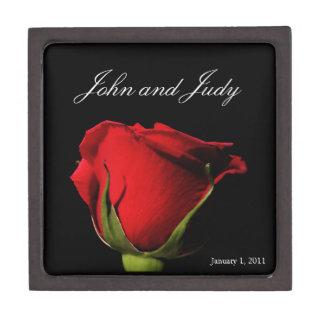 Long Stemmed Red Rose Personal Keepsake Box