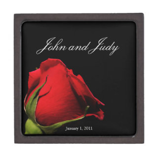 Long Stemmed Red Roses Personal Wedding Gift Box