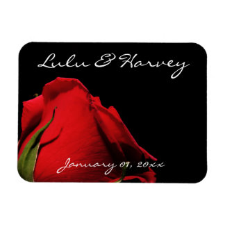 Long Stemmed Red Roses Personal Wedding Magnet