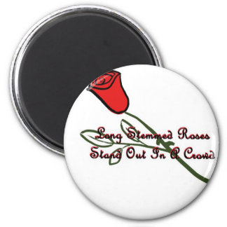 Long Stemmed Roses 2 Inch Round Magnet