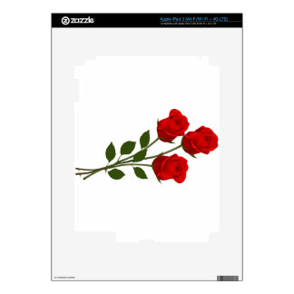 Long Stemmed Roses Decal For iPad 3