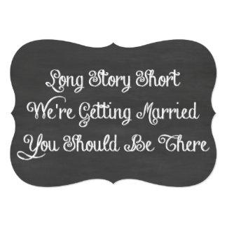 Long Story Short | Chalkboard 5x7 Paper Invitation Card