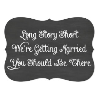 Long Story Short   Chalkboard Card
