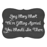 Long Story Short | Chalkboard 5x7 Paper Invitation Card