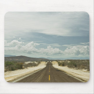 Long Straight Road Through Mexican Baja Landscape Mouse Pad